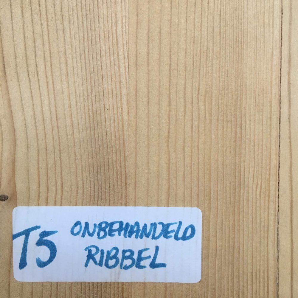 Blad T5 Onbehandeld Ribbel