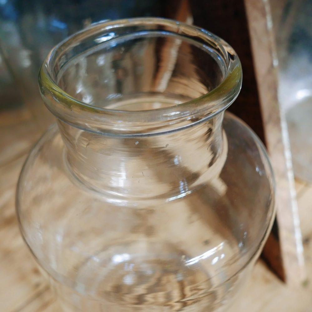 Glazen pot transparant M