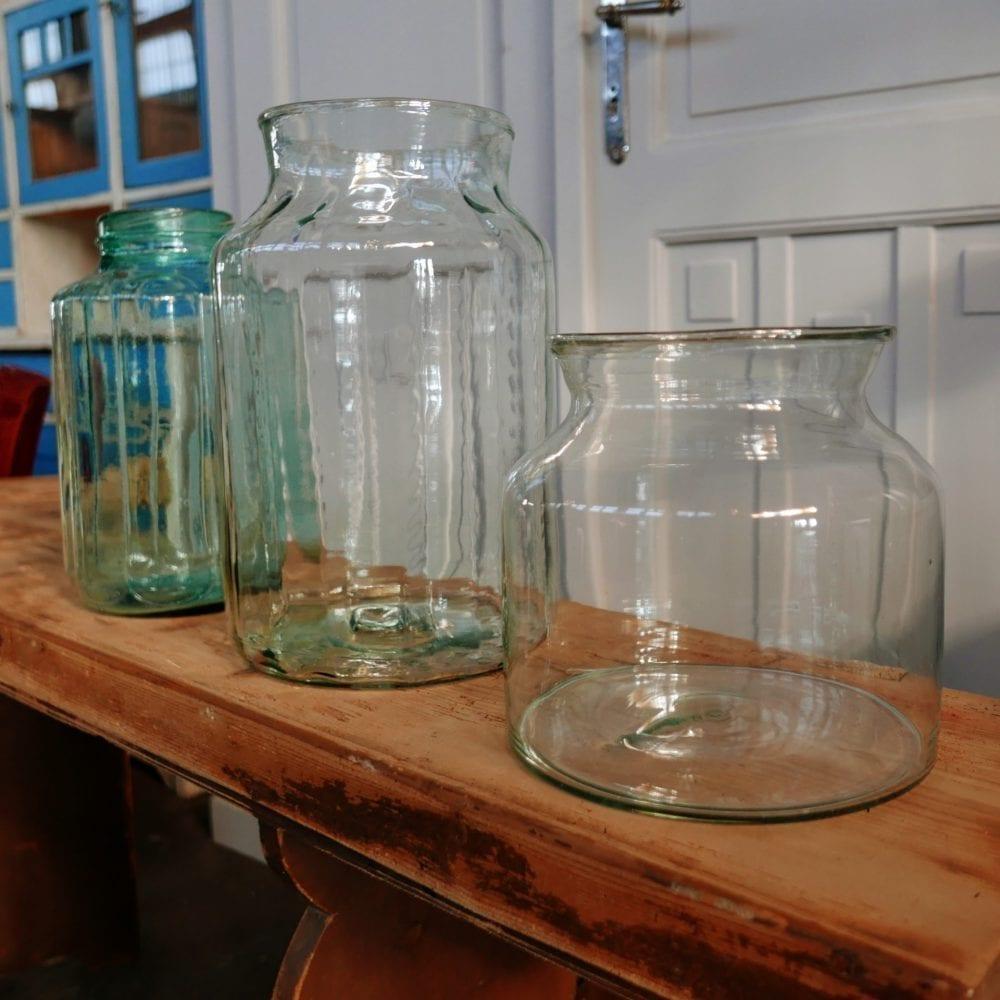 Glazen pot transparant S