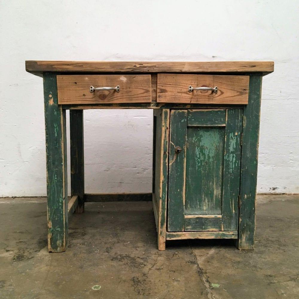 Groen houten bureau