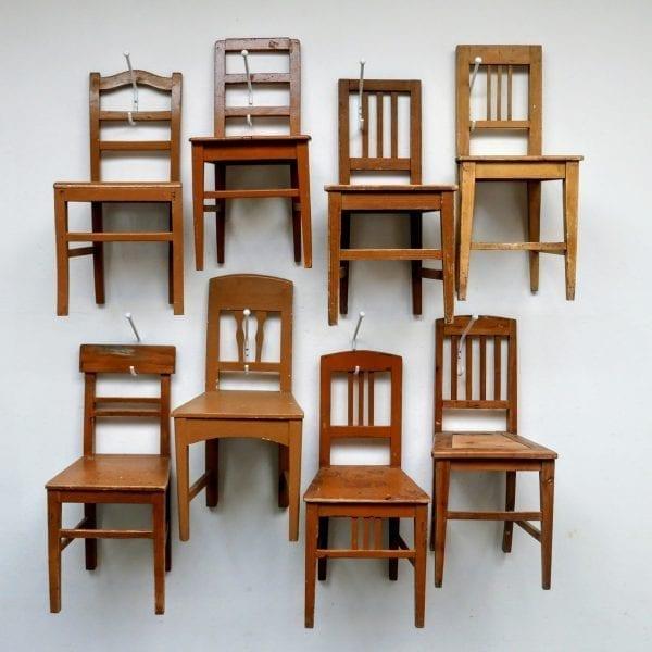 Hongaarse houten lichtbruine stoel