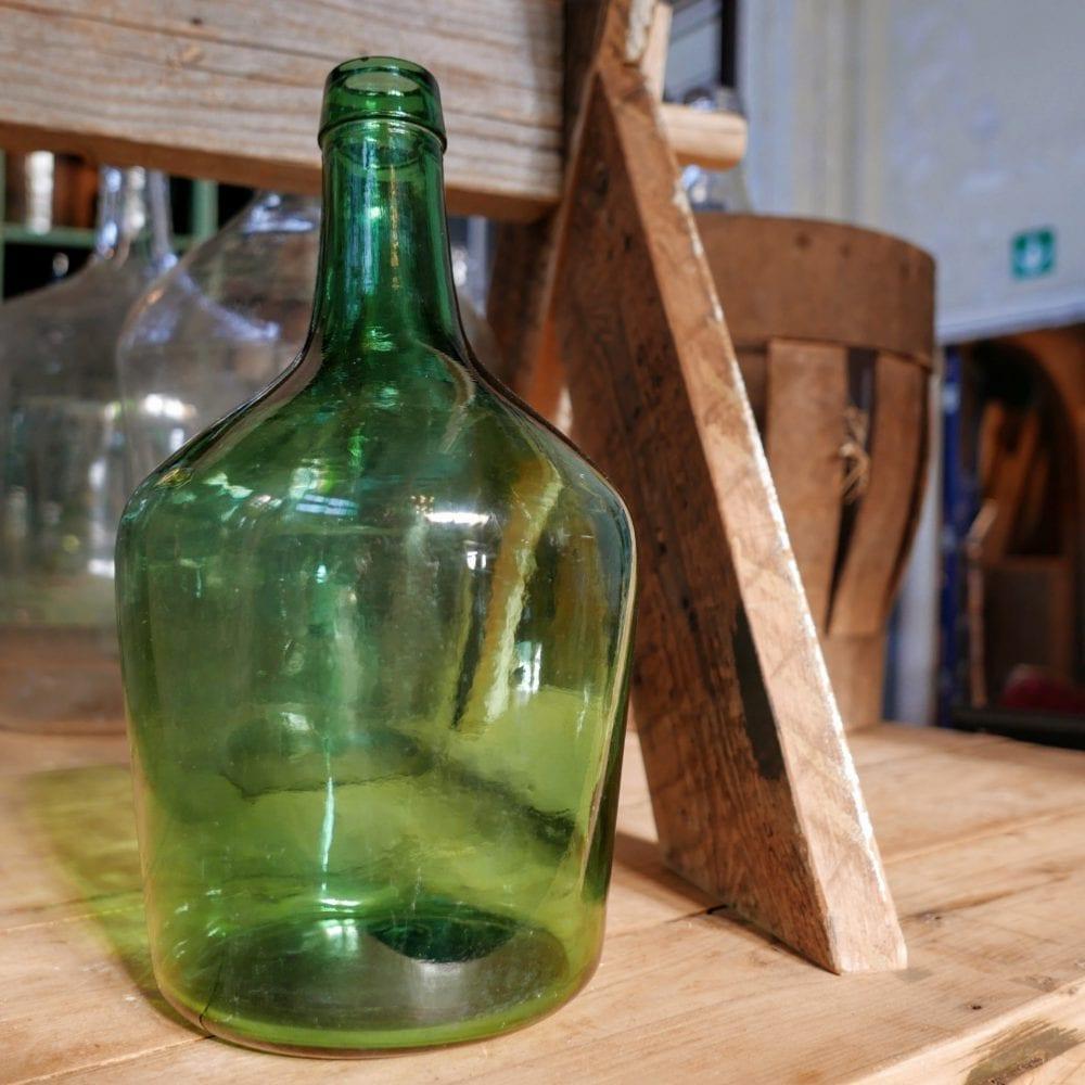 Bol fles groen M