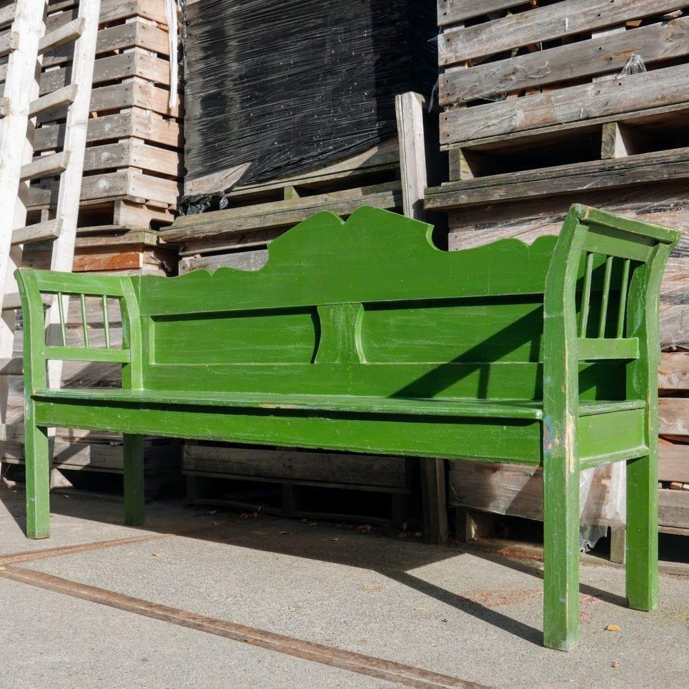 Hongaarse houten groene bank