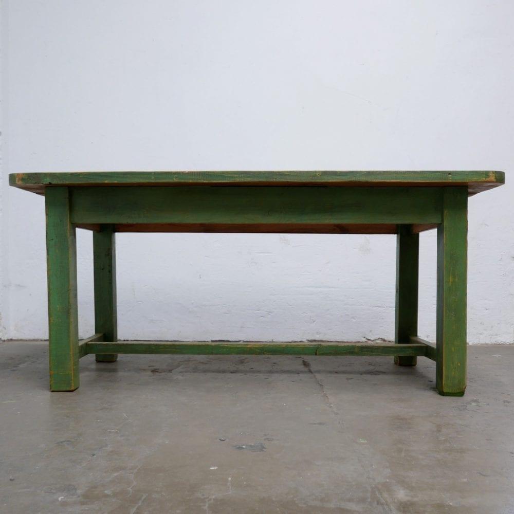 Houten groene tafel