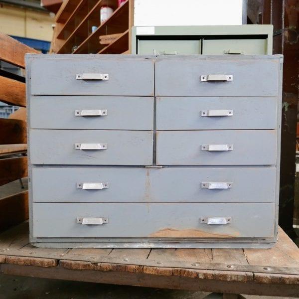 houten grijze ladekast kist