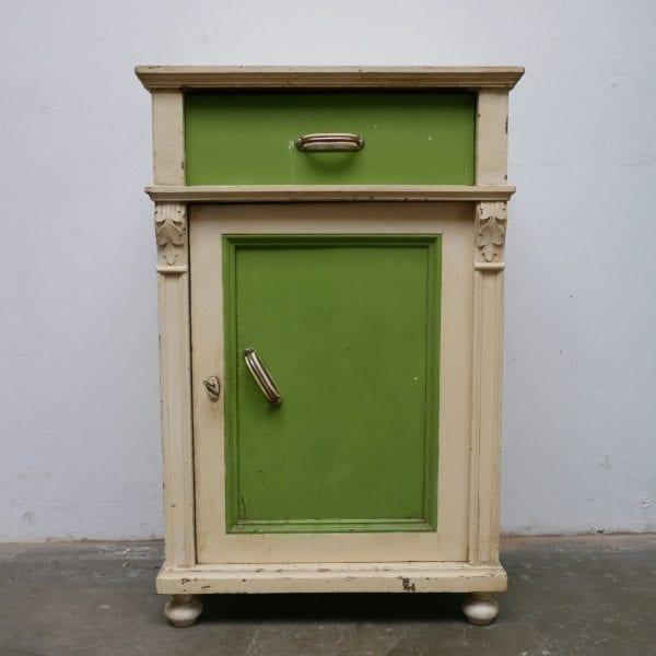 crème-groen kastje