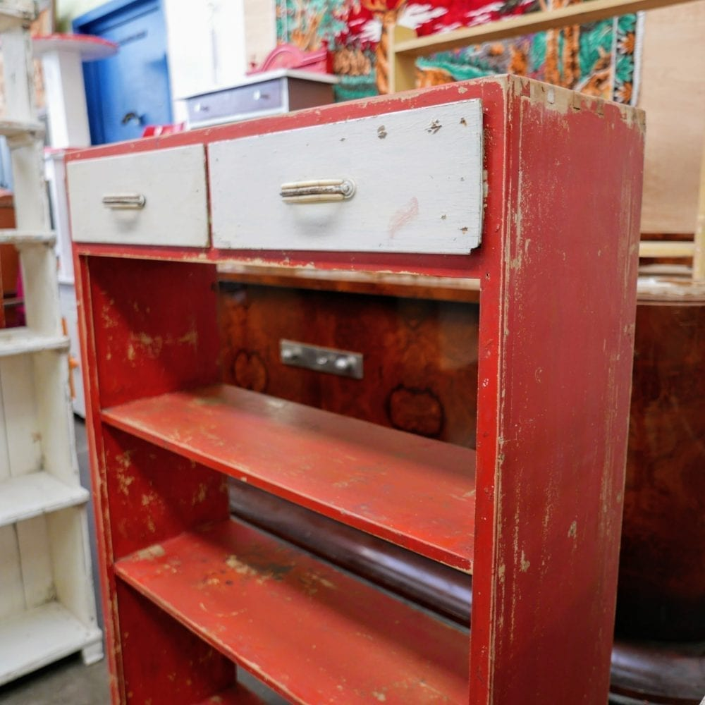 Rode open kast