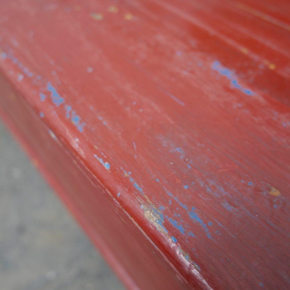 Rode klepbank