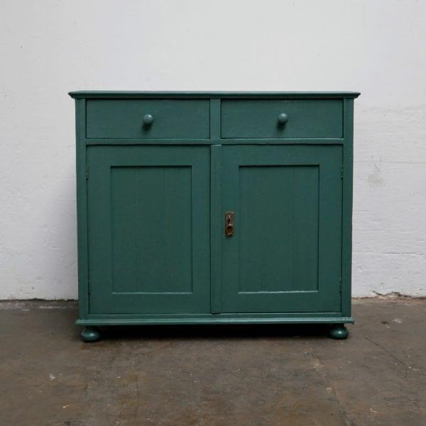Blauw-groene commode