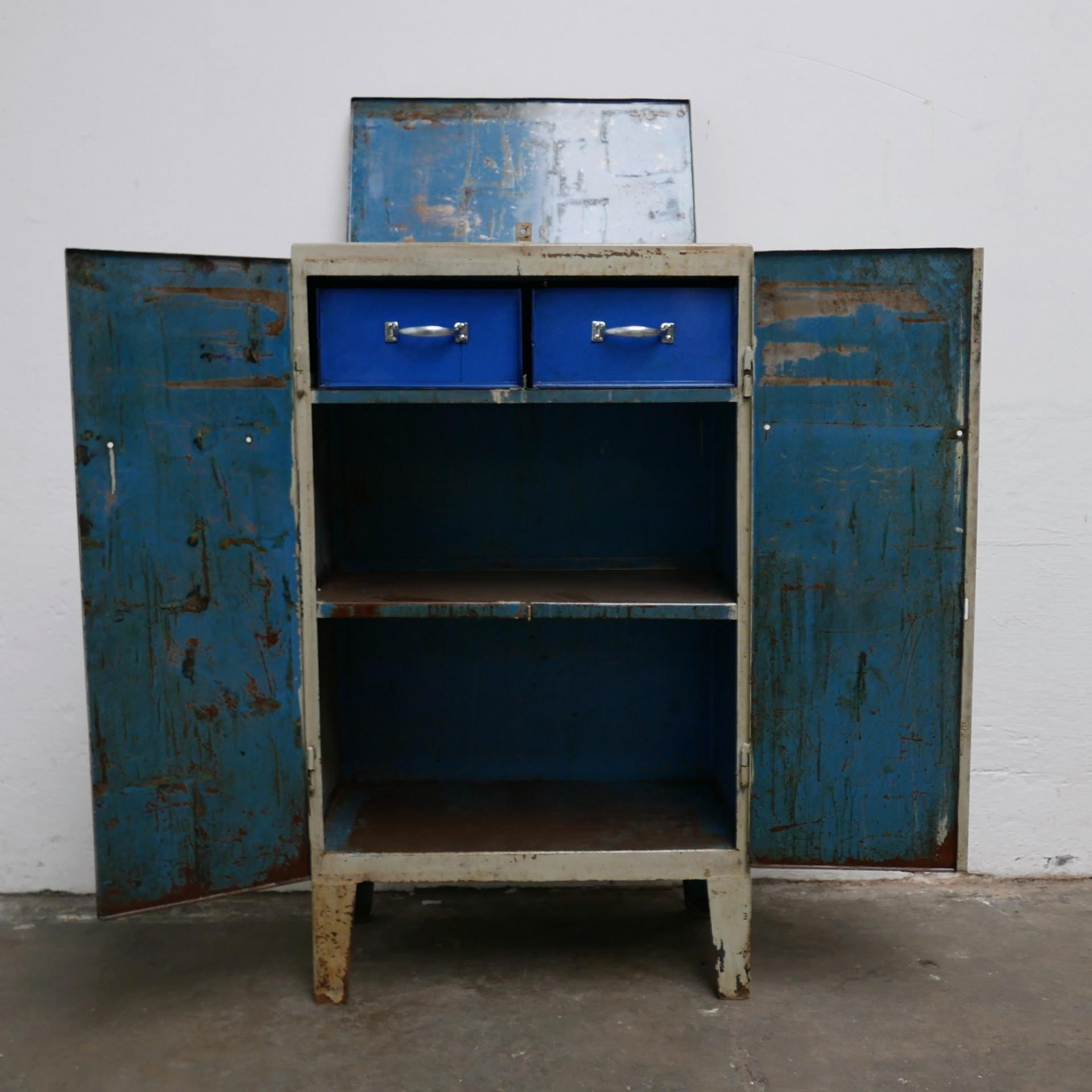 Lockerkast Metaal Grijs Blauw