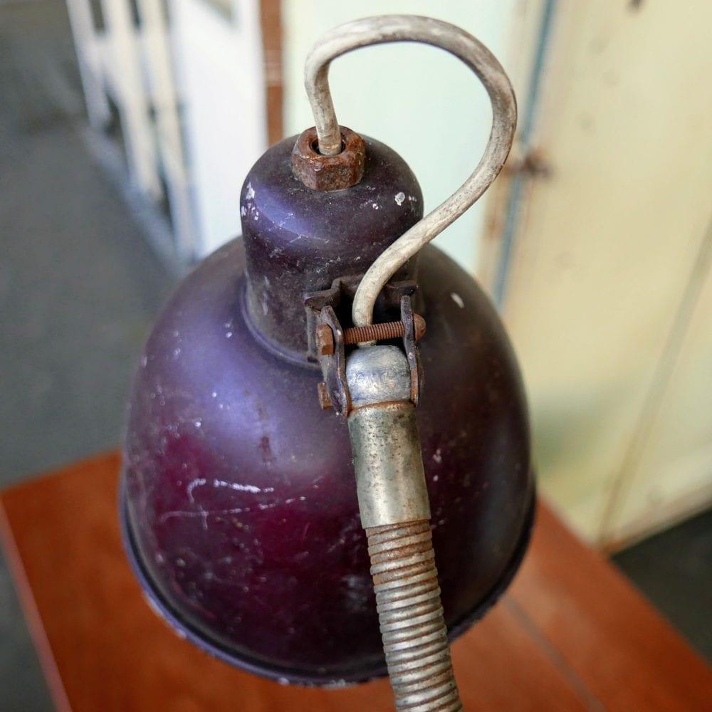 Vintage metalen klem bureaulamp