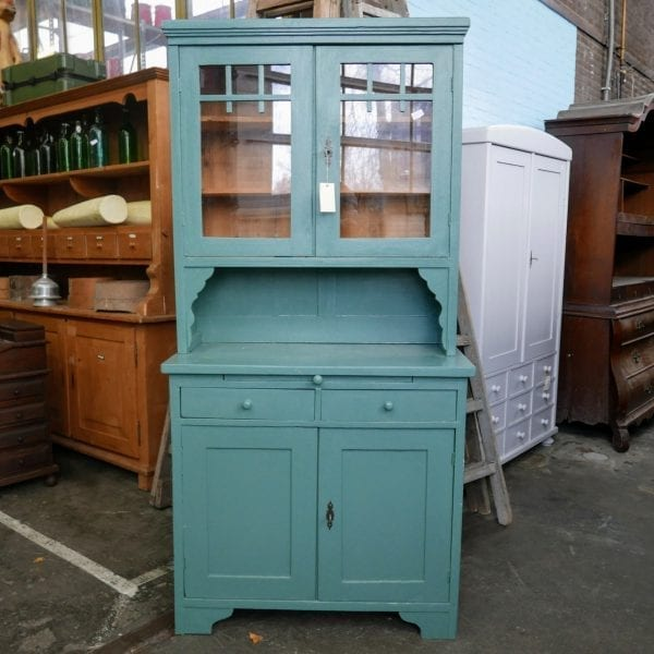 Groen-blauwe buffetkast