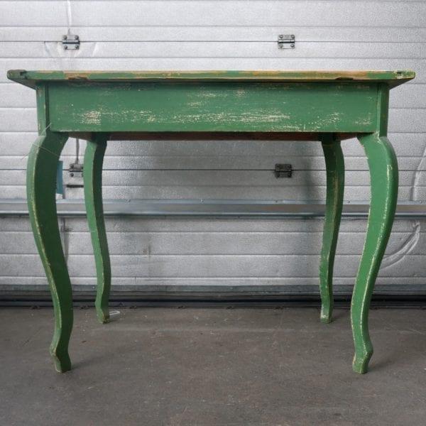 groene houten tafel