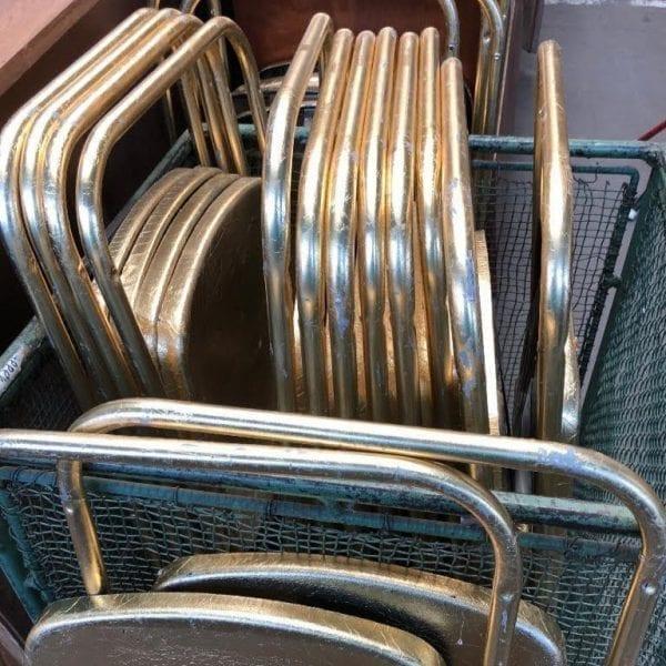 Gouden klapstoelen