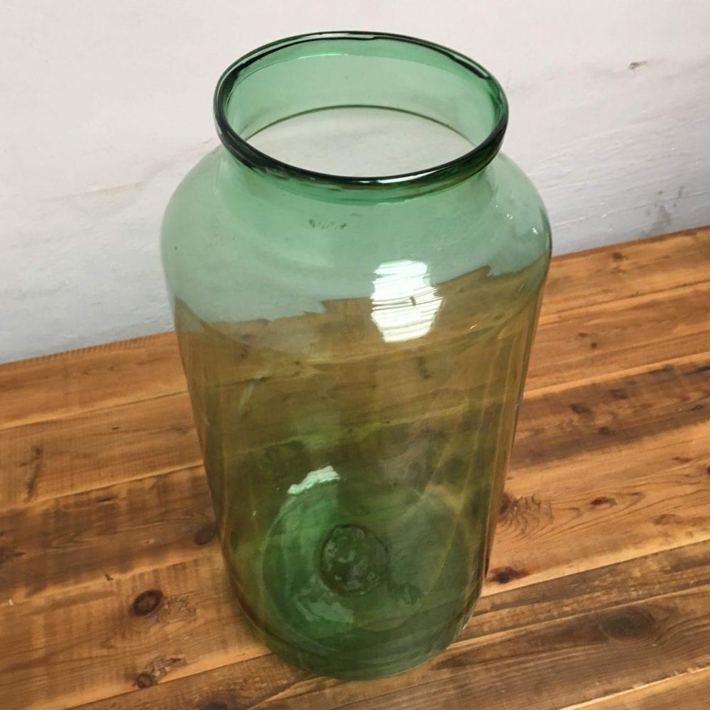 groene transparante vaas