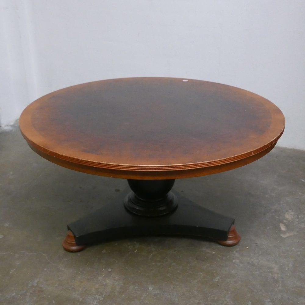 ronde houten salontafel