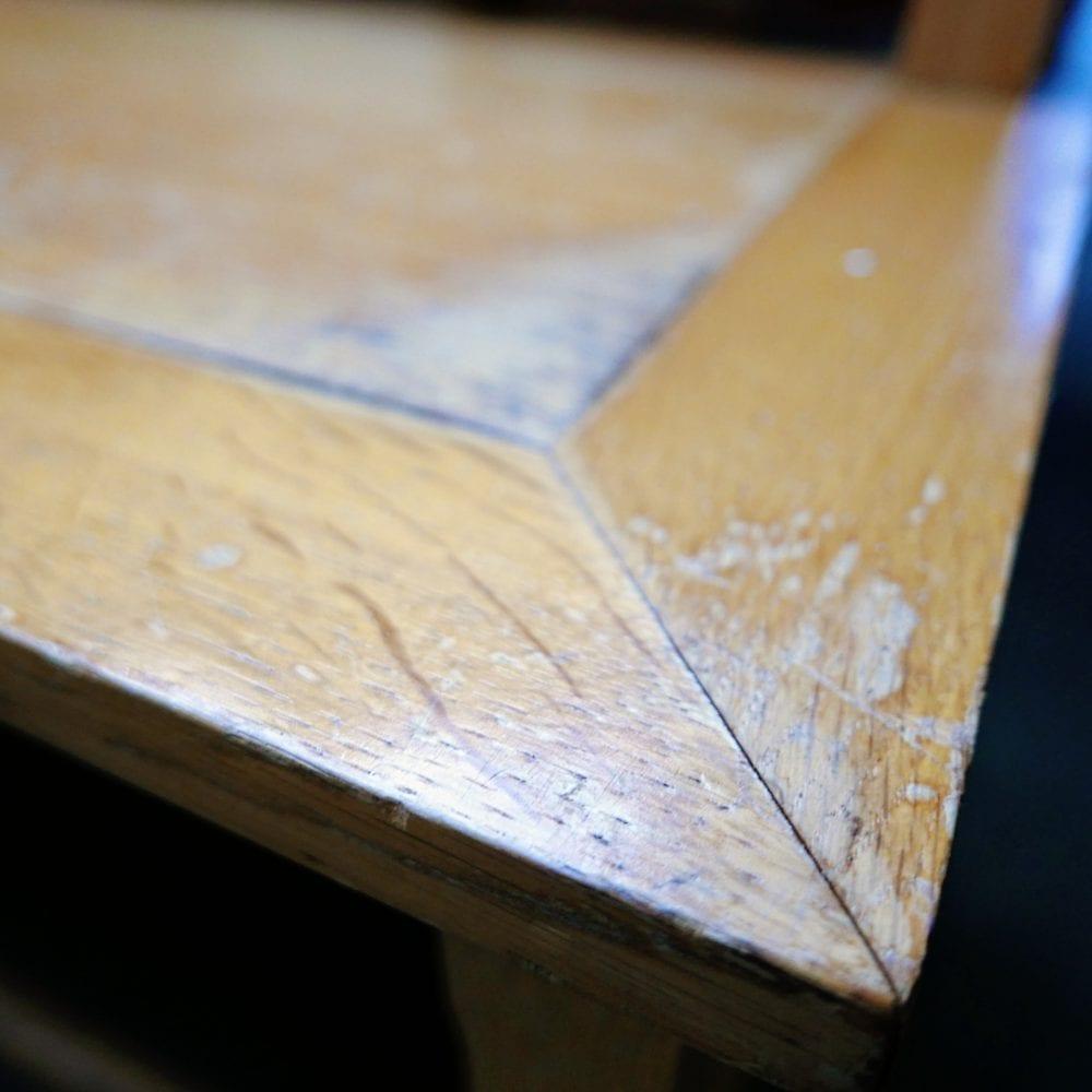 blank houten bank