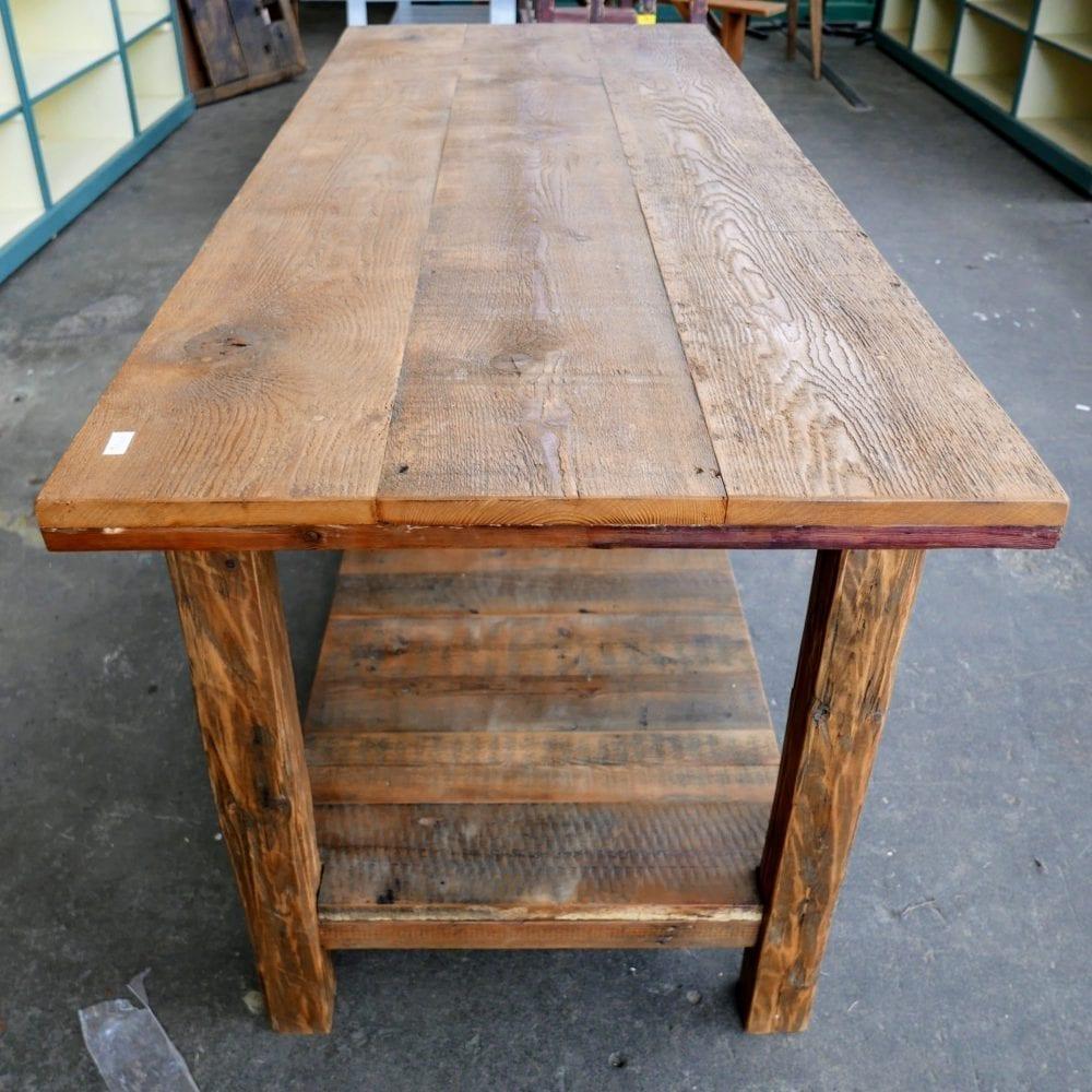 houten werktafel
