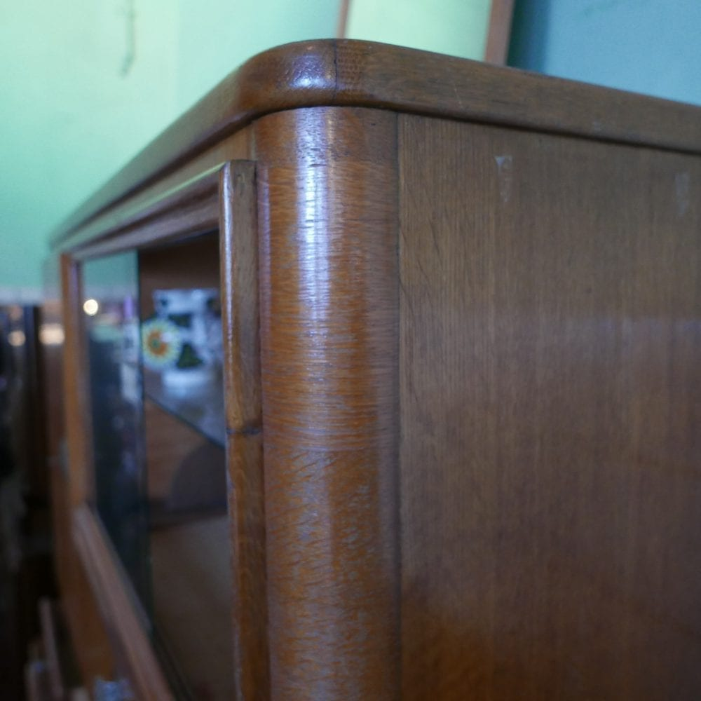 Retro houten wandmeubel