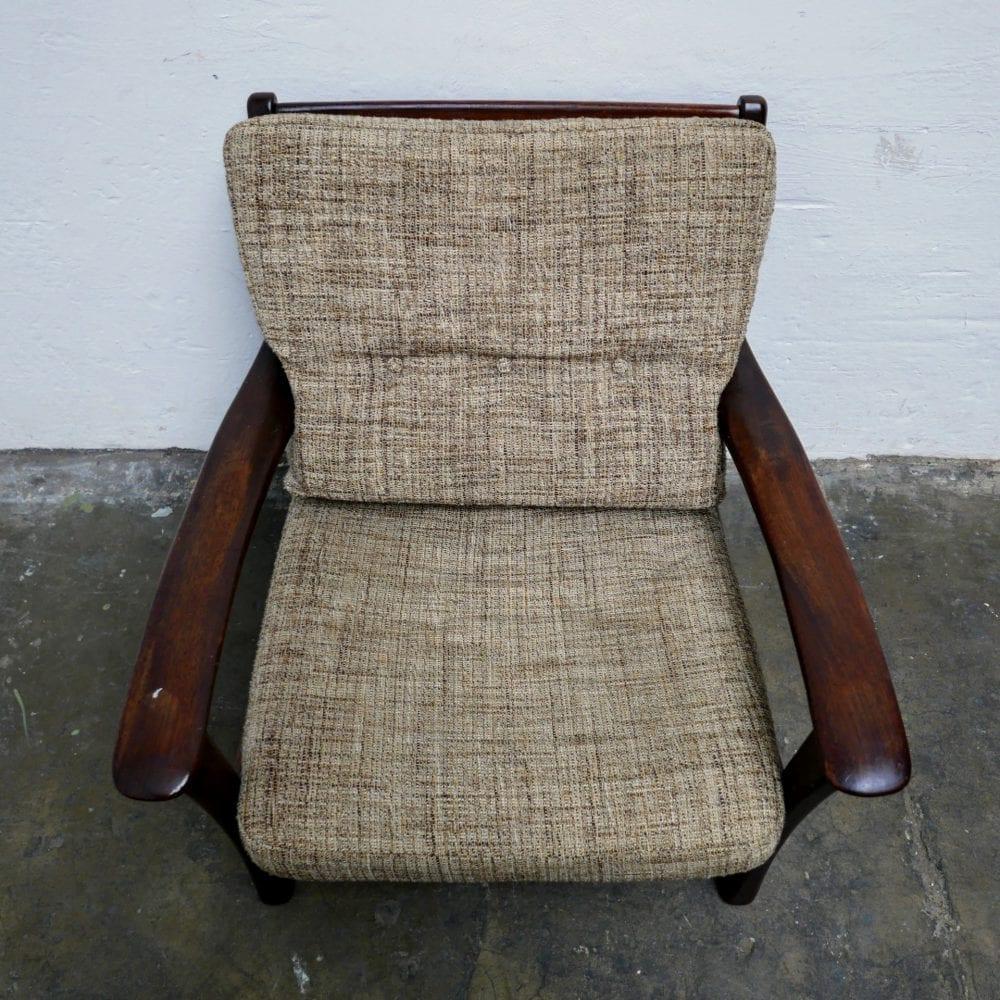 vintage houten fauteuil
