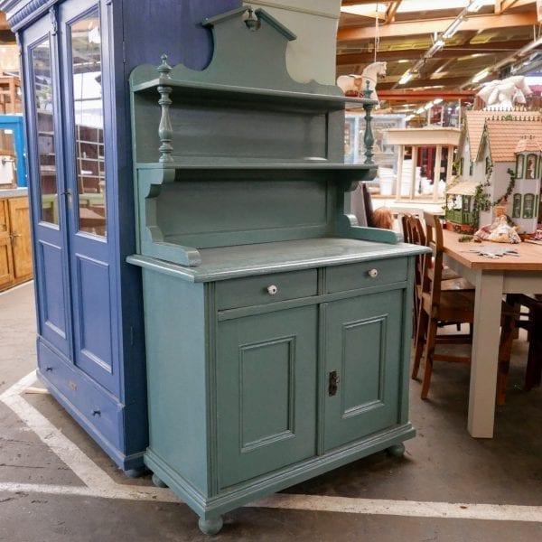 open blauwgroene buffetkast