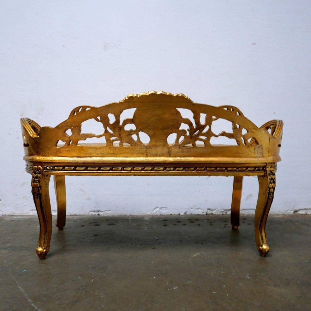 gouden barok bankje