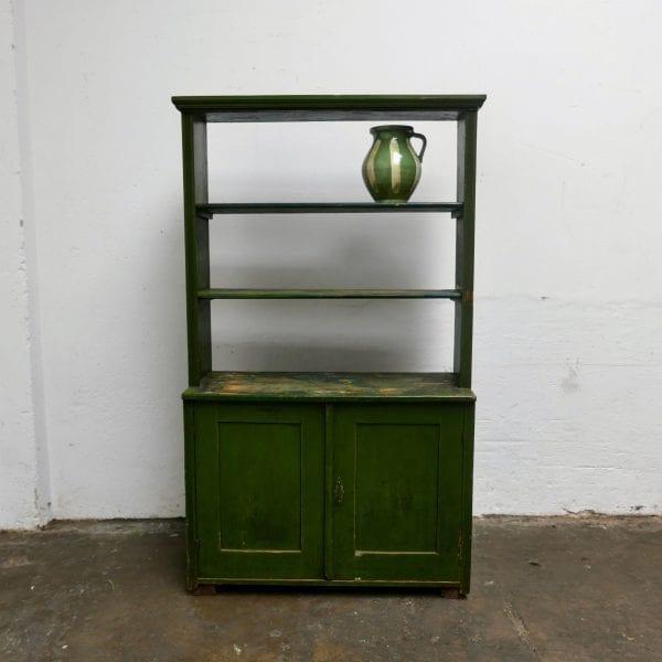 groene houten keukenkast