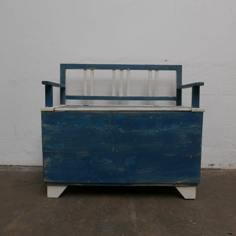 blauw-witte kinderbank