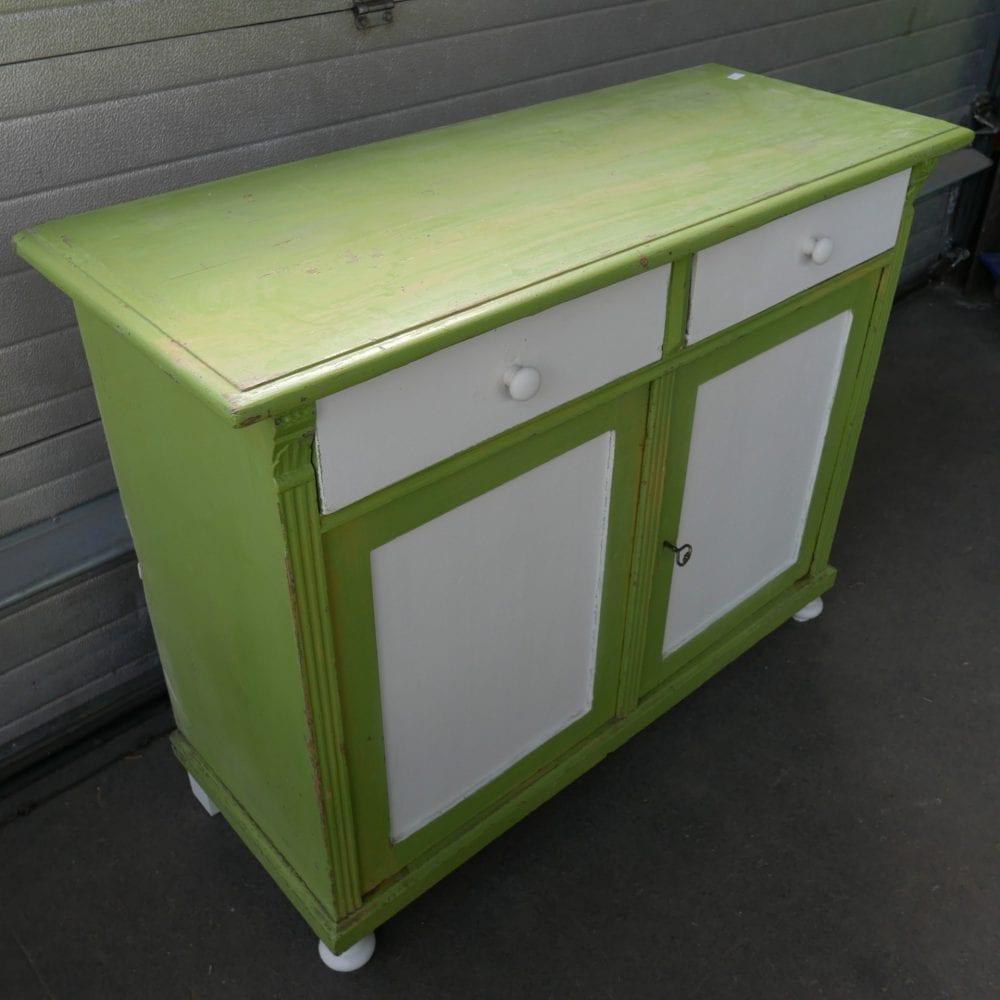 groen witte commode