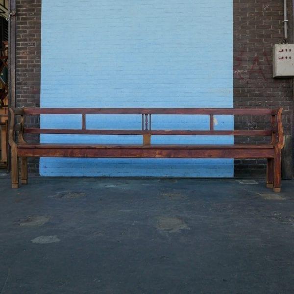 lange houten bank