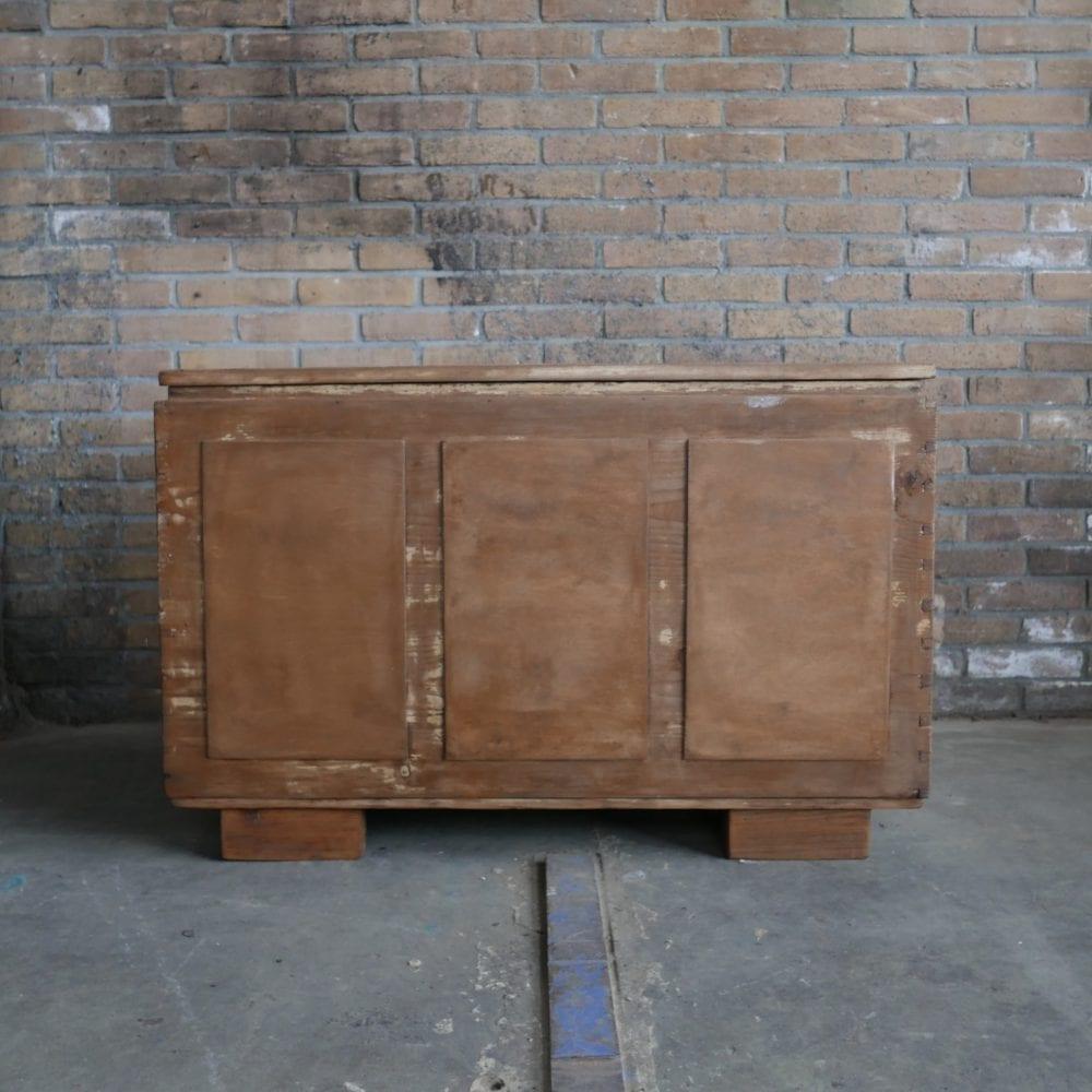Bruine houten kist