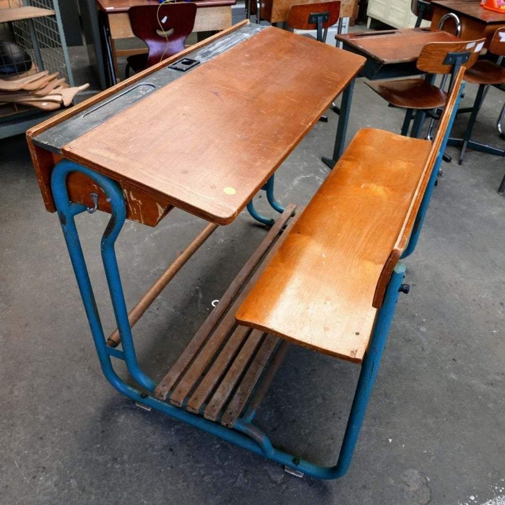 metalen schoolbank