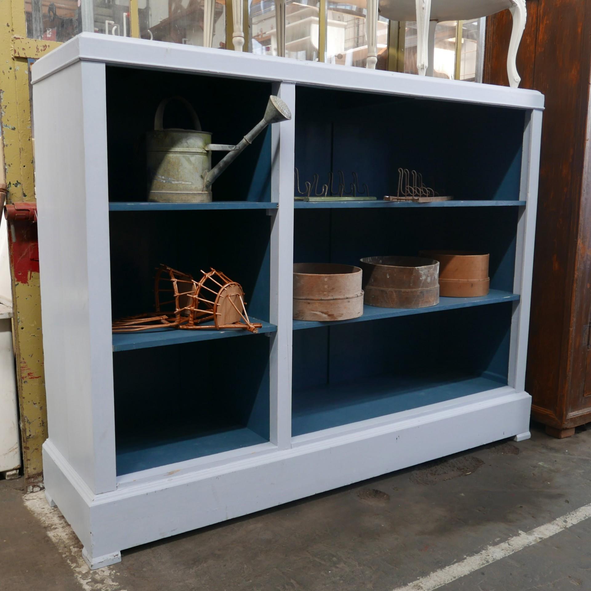 Grijs Blauwe Open Kast