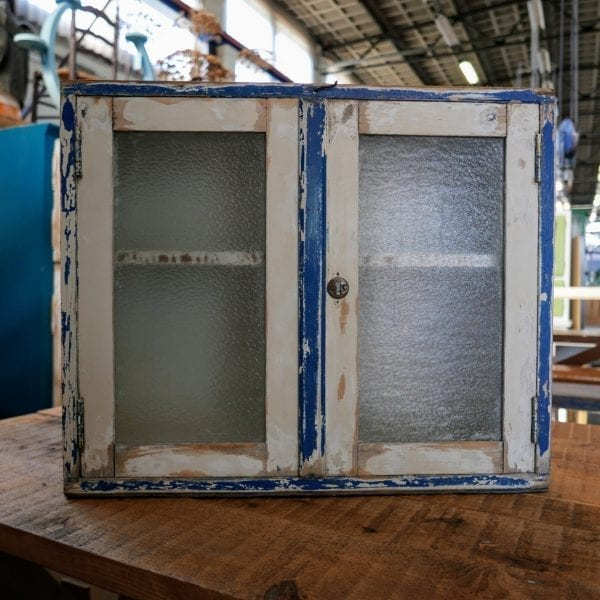 wit-blauw kastje