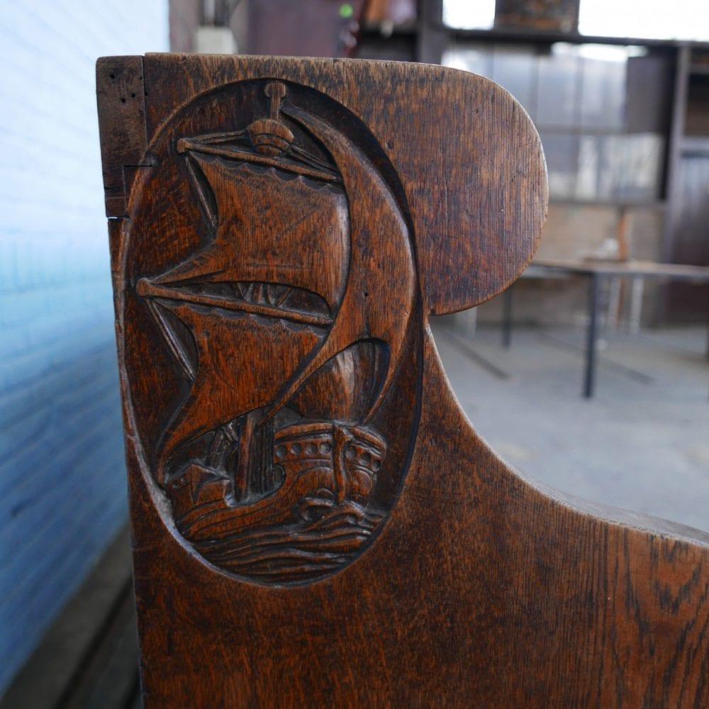 houten kerkbank