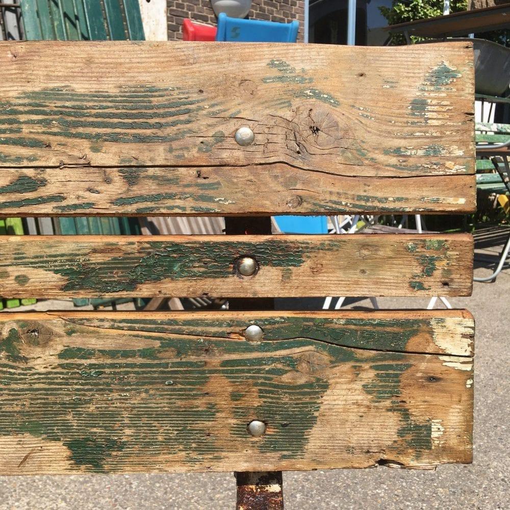 Brocante houten tuinbank