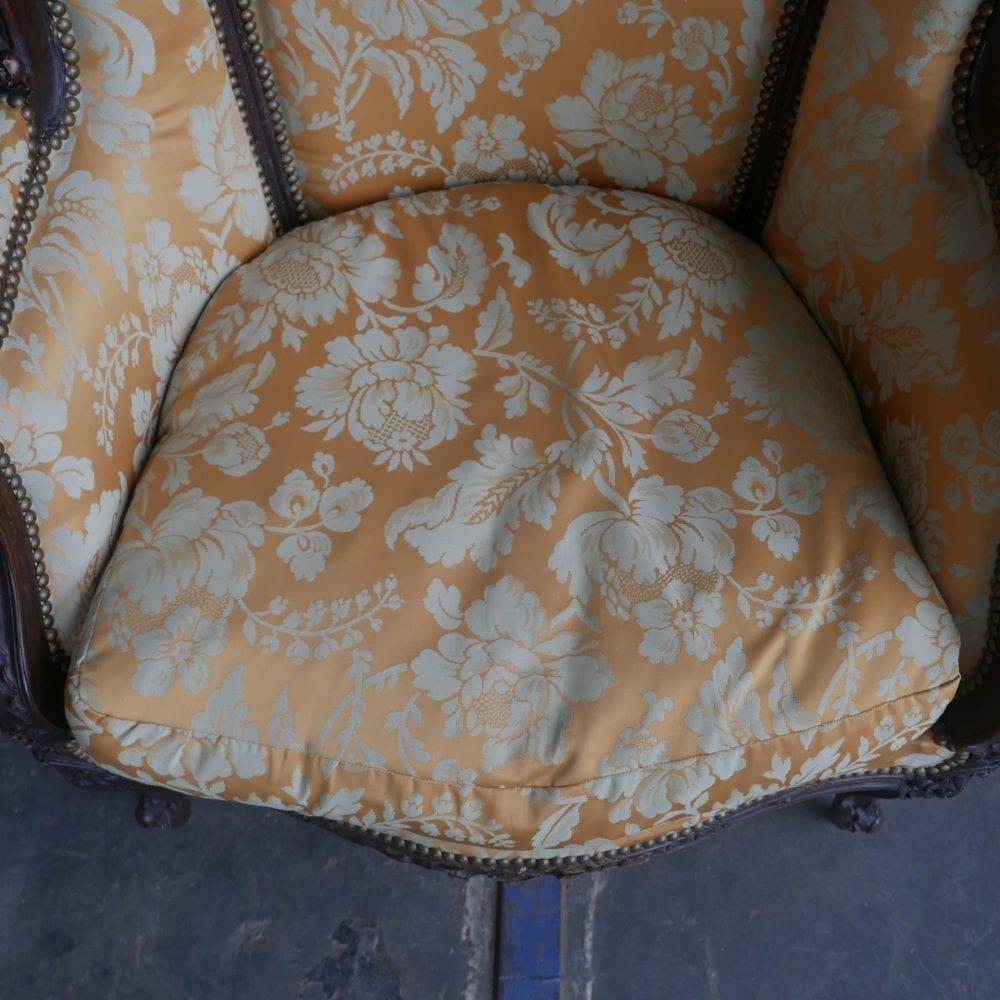 Barok stoel geel