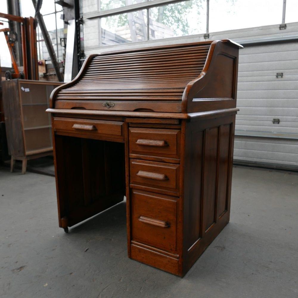 houten secretaire met rolklep