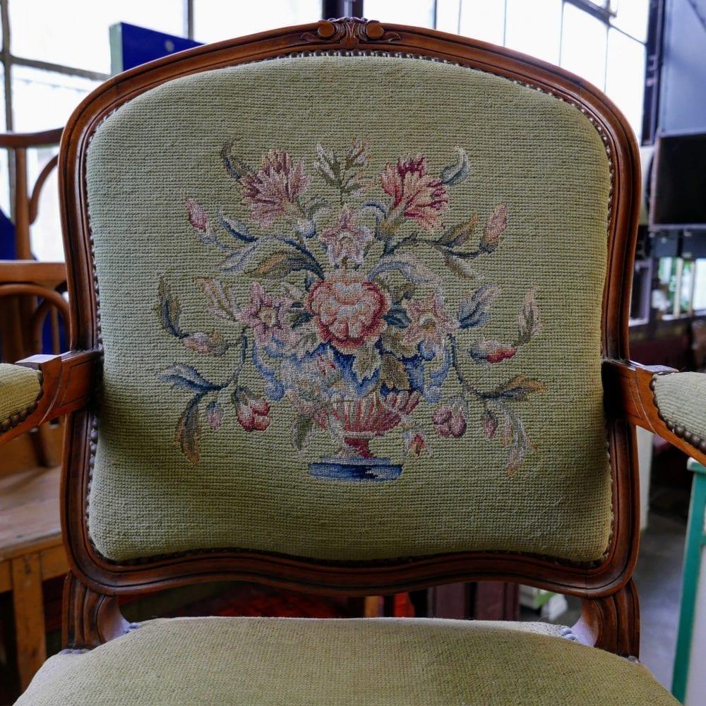 Louis XV stoel groen