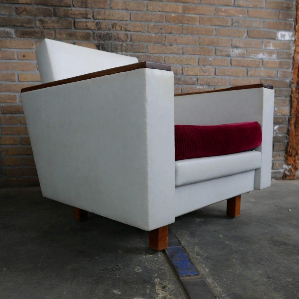 Vintage leren fauteuil