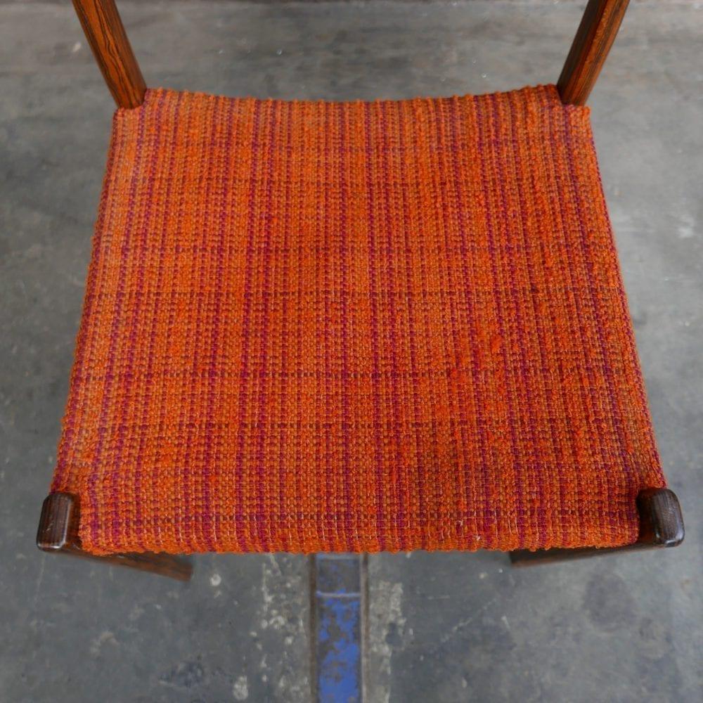oranje retro jaren '50 stoel
