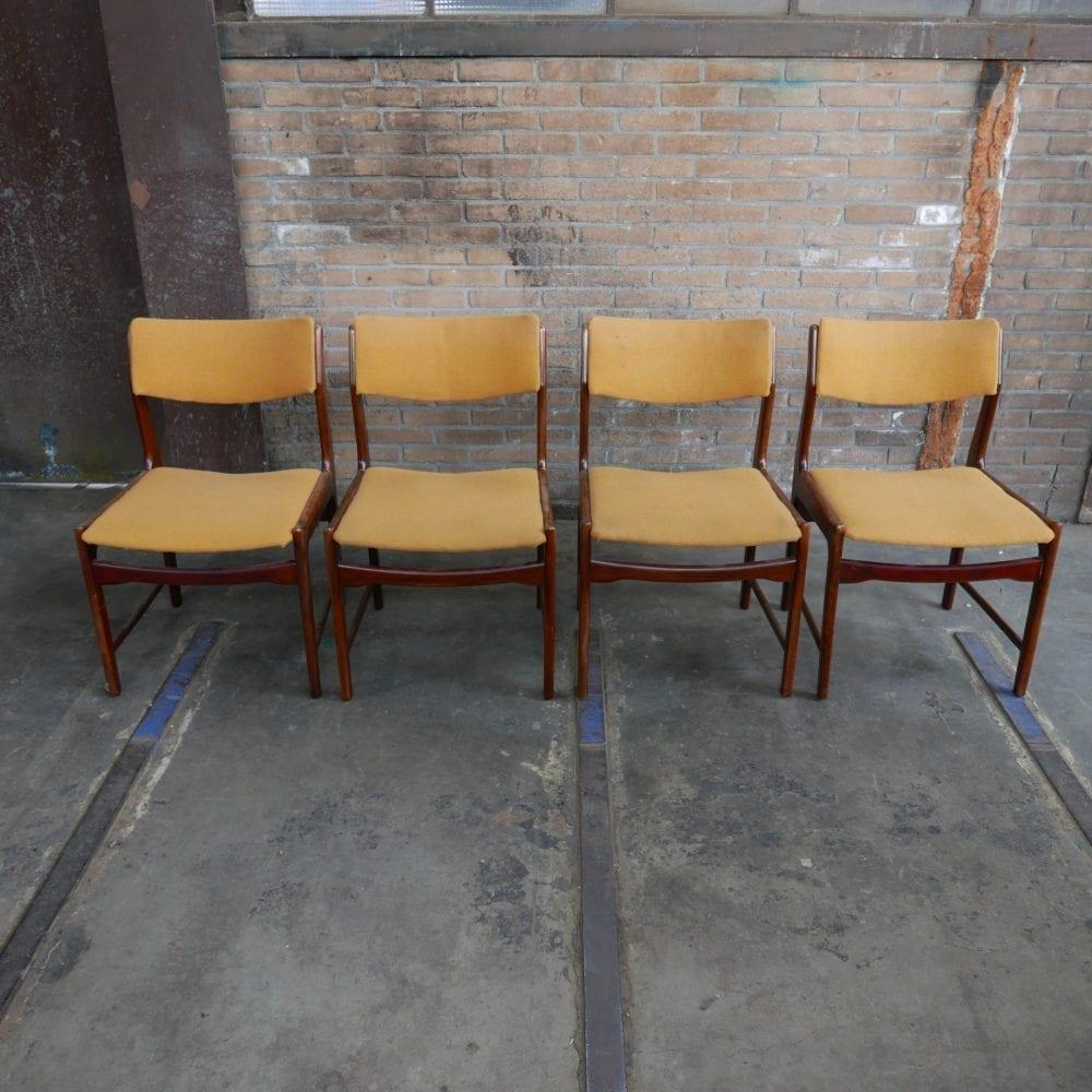 vintage stoelen geel