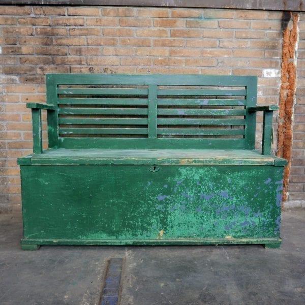 Groene kistbank