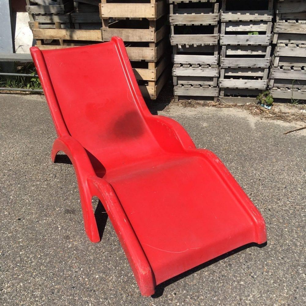 rode ligstoel
