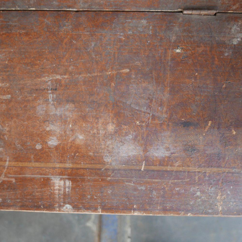 Houten beschilderde klepbank