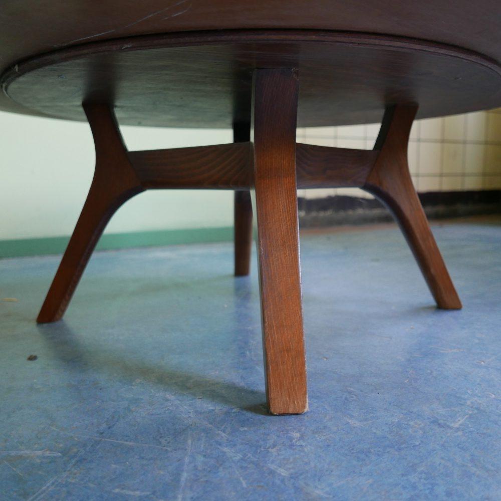 ronde retro salontafel