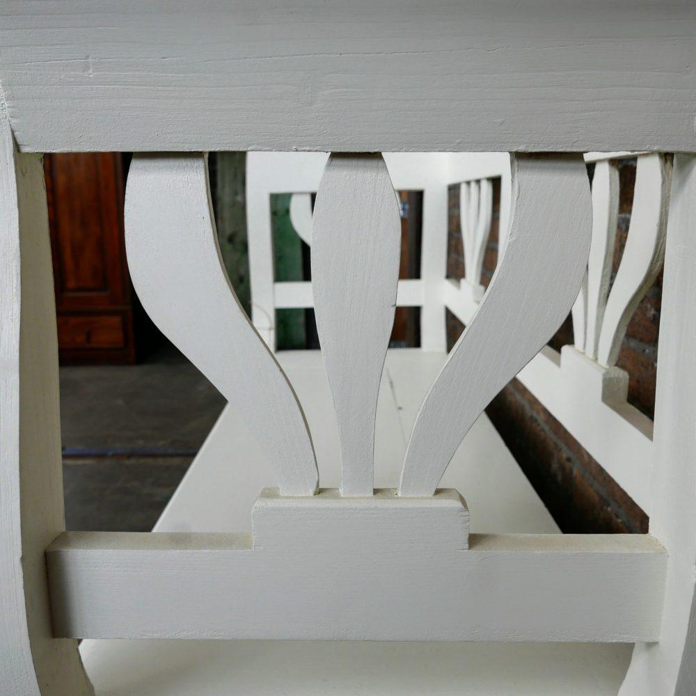 Witte kistbank