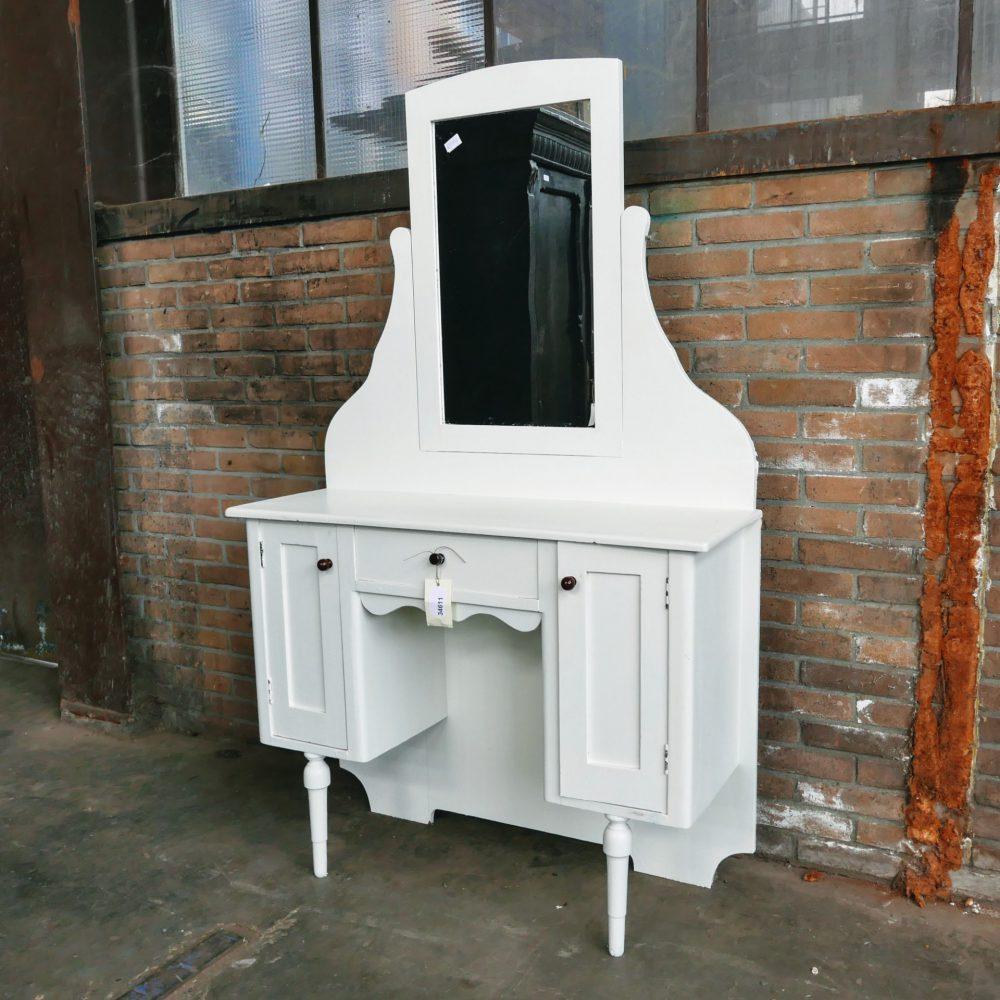 Kapmeubel wit hout spiegel