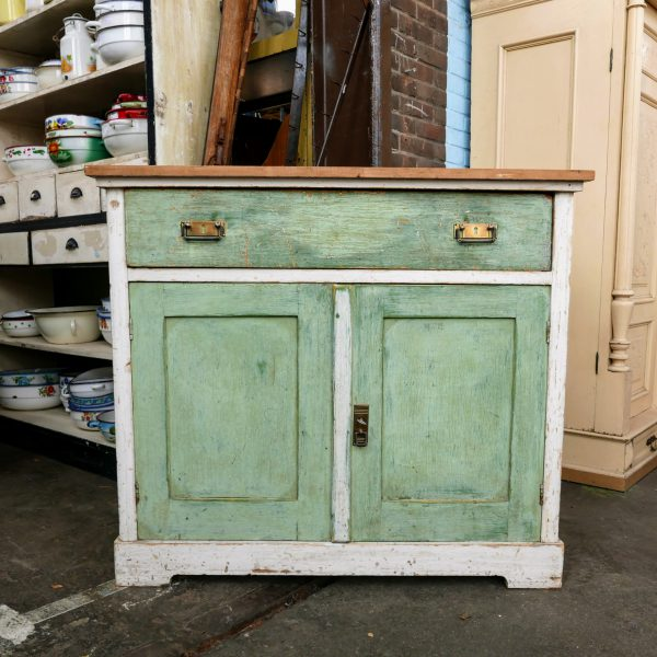 Wit-groene commode