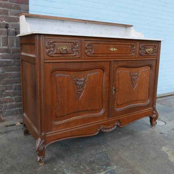 Frans houten badkamer meubel commode